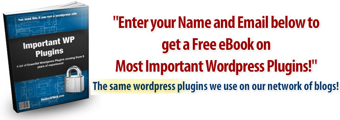 Get a Free eBook on Most Important Wordpress Plugins!